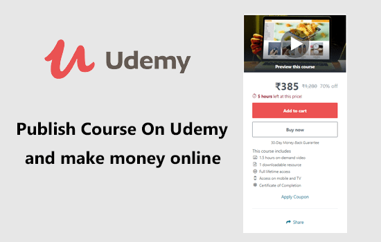 Publish a course on udemy