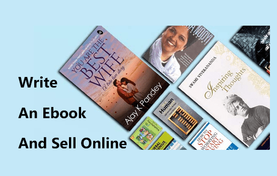 write an ebook and sell online