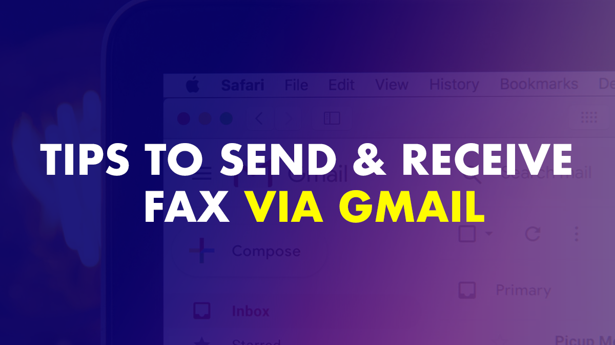 Send and receive fax via gmail