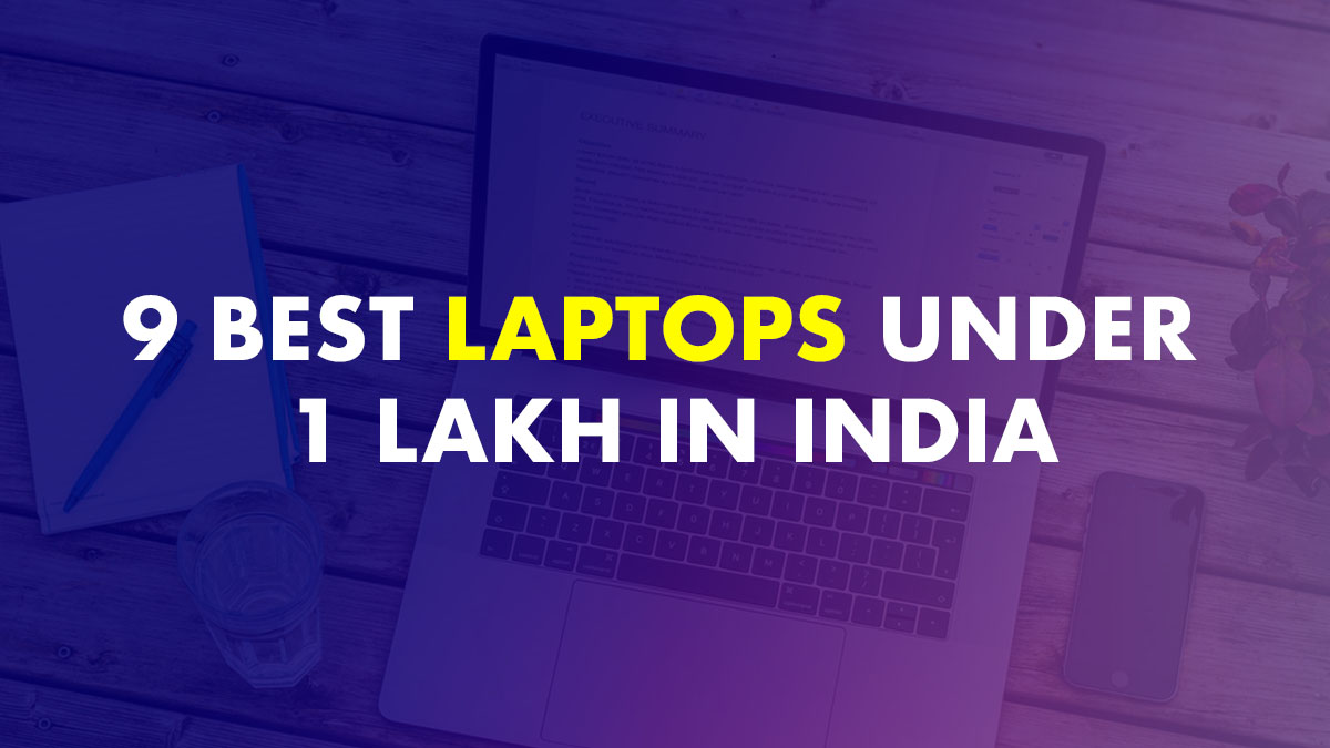 Laptop under 1 lakh in India