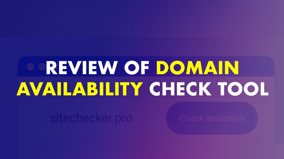 Domain availability check