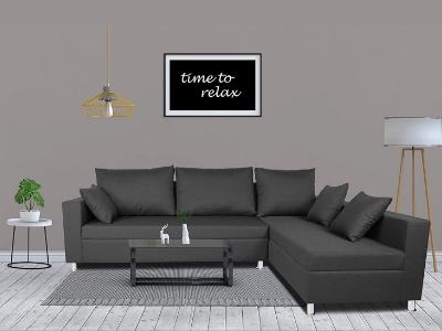 Adorn India Straight L Shape Sofa