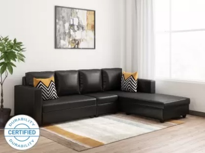 Bharat Lifestyle Deco Leatherette 6 Seater Sofa