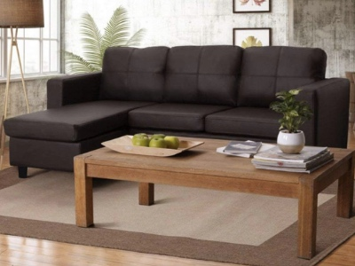 Furny Davis 3+1 L Shape Leatherette Sofa