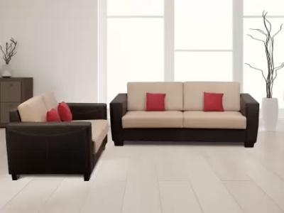 KURLON Turin Leatherette brown Sofa Set
