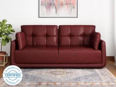 MUEBLES CASA Leatherette 3 Seater Sofa