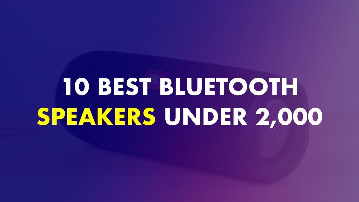Best Bluetooth Speakers Under 2000 In India